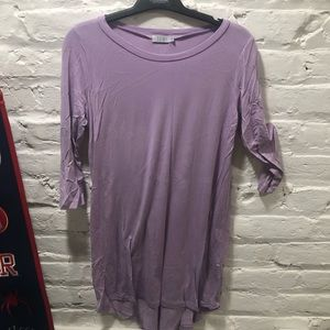 Purple t shirt dress